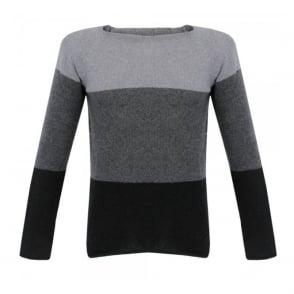 Nudie Jeans Vladmir Graded Black Grey Jumper 150147B