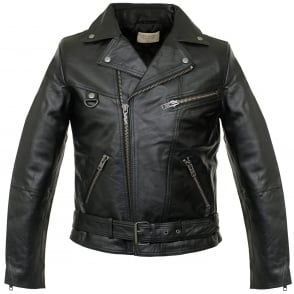 Nudie Jeans Ziggy Punk Leather Black Motorcycle Jacket 160411