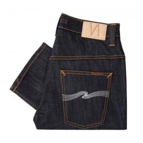 Nudie Thin Finn Organic Dry Ecru Embo Denim Jeans