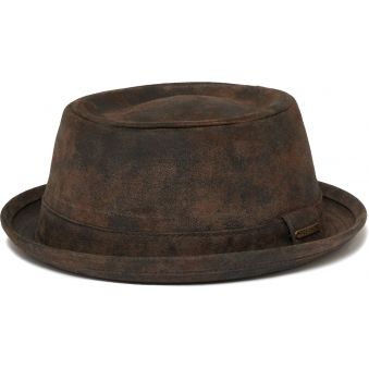 Odenton Pork Pie Cloth Hat- Brown