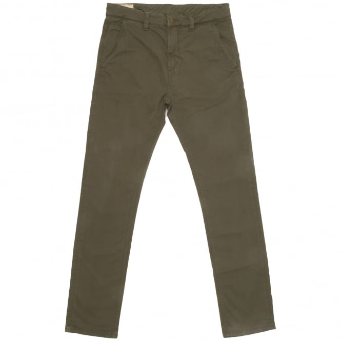 Nudie Jeans Olive Green Chinos