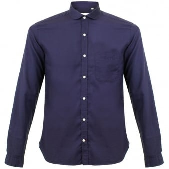 Oliver Spencer Eton Collar Navy Shirt OSS69B