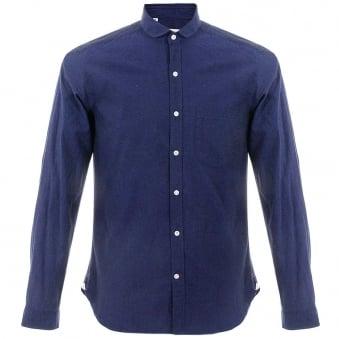 Oliver Spencer Eton Herne Navy Shirt OSS69B