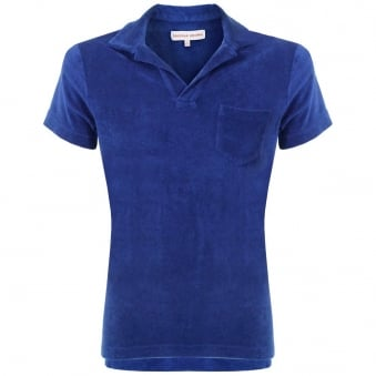 Orlebar Brown Terry Towelling Cobalt Polo Shirt 257845