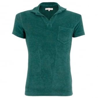 Orlebar Brown Terry Towelling Lagoon Polo Shirt 252498