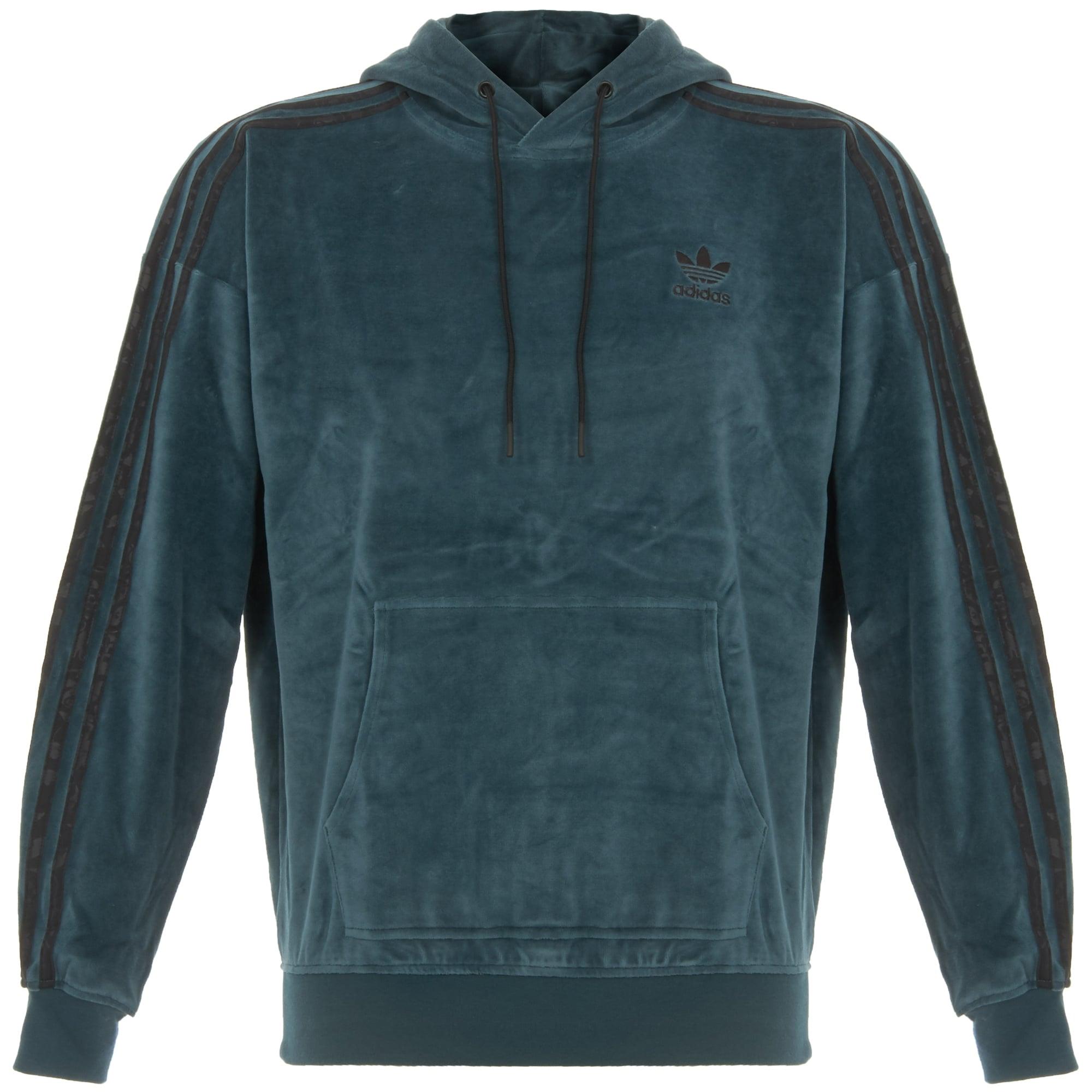 adidas originals ornamental block velour hoodie viridian. Black Bedroom Furniture Sets. Home Design Ideas