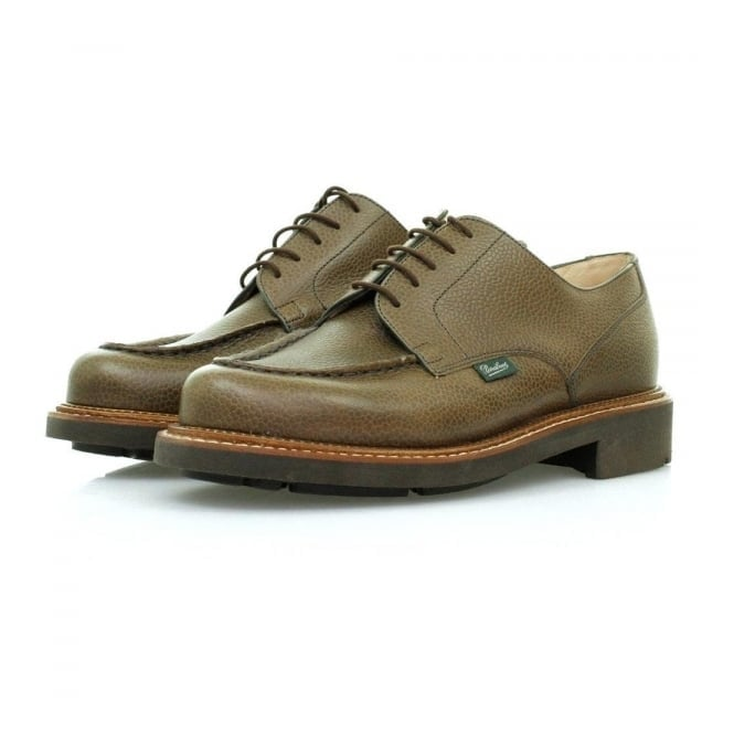 Paraboot Chambord Marron Grain Khaki Leather Shoe