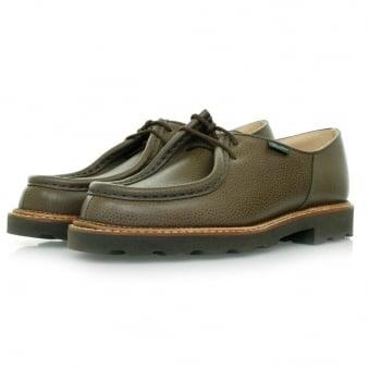 Paraboot Michael Marche Khaki Grain Scotch Leather Shoes 157731