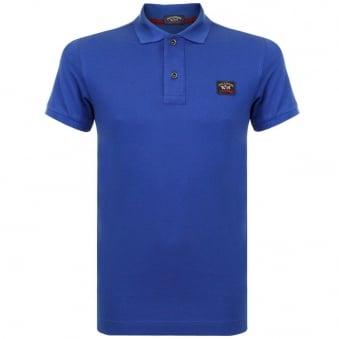 Paul and Shark Blue Pique Polo Shirt I15P100