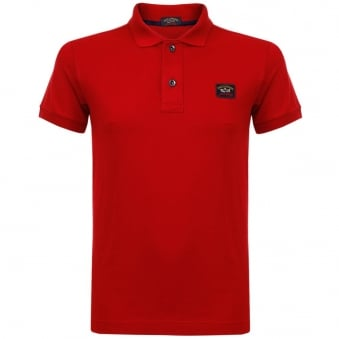 Paul and Shark Pique Red Polo Shirt I15P1000