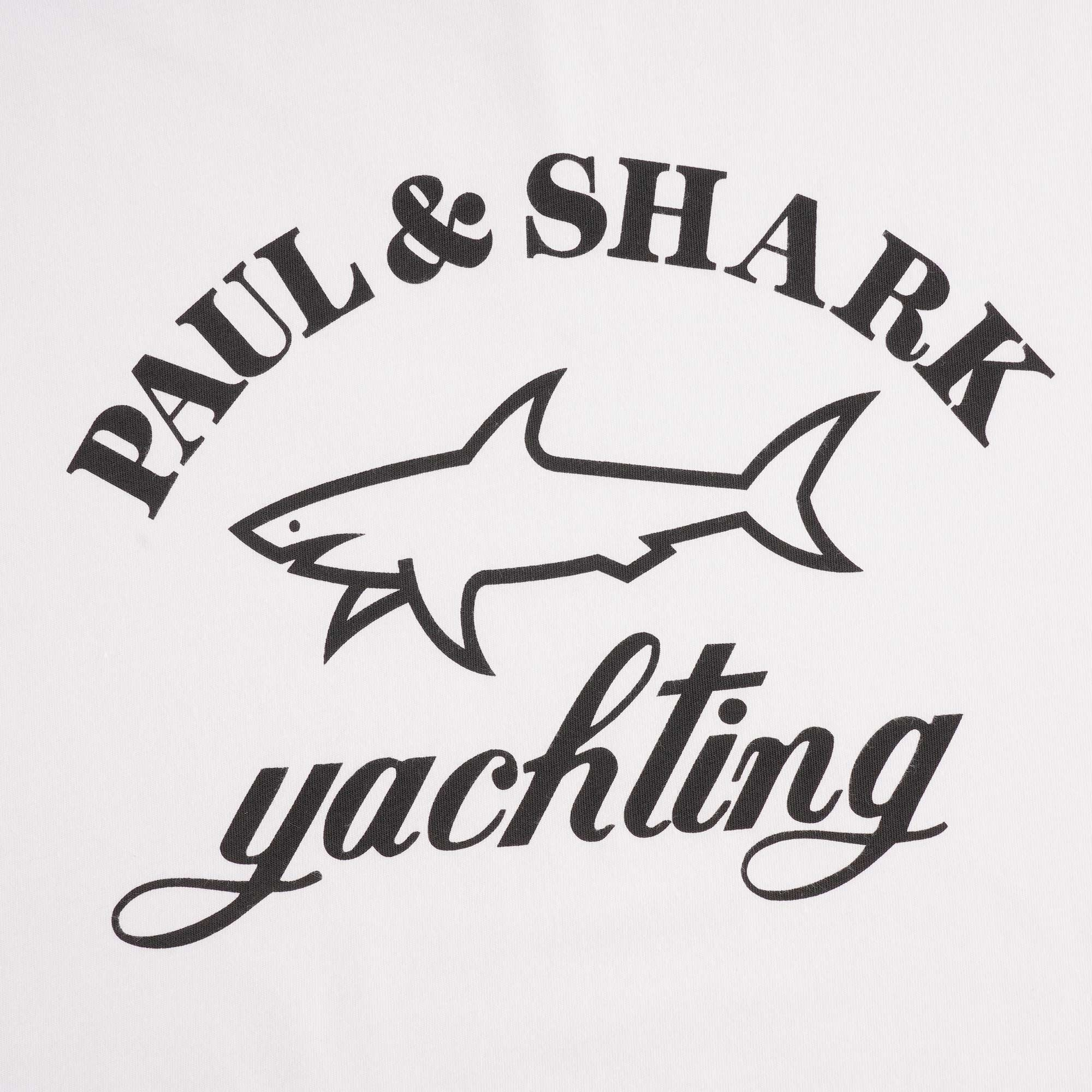 Paul And Shark Yachting Logo Ringer T-shirt White//Navy