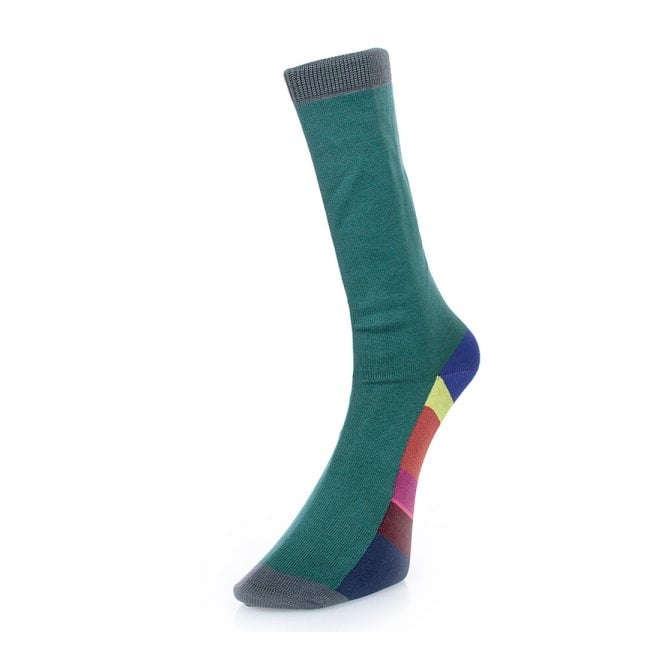 Paul Smith Accessories Sole Stripe Green Socks ALXA800EF179