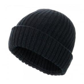 Paul Smith Jeans Ribbed knit Wool Black Beanie 939V154B