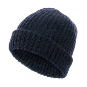 Paul Smith Jeans Ribbed knit Wool Navy Beanie 939V154N