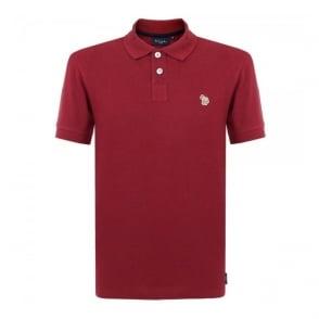 Paul Smith Zebra Logo Burgundy Polo Shirt JNFJ-183K-B46Z