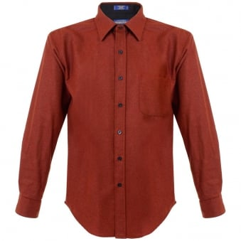 Pendleton Wollen Mills fitted Lodge Baked Red Shirt AA031-28116-R