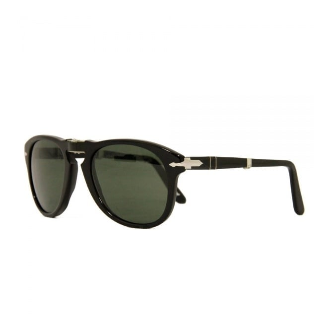 0fe9d9bd72 Persol 714 Foldable Black Sunglasses 95 5852
