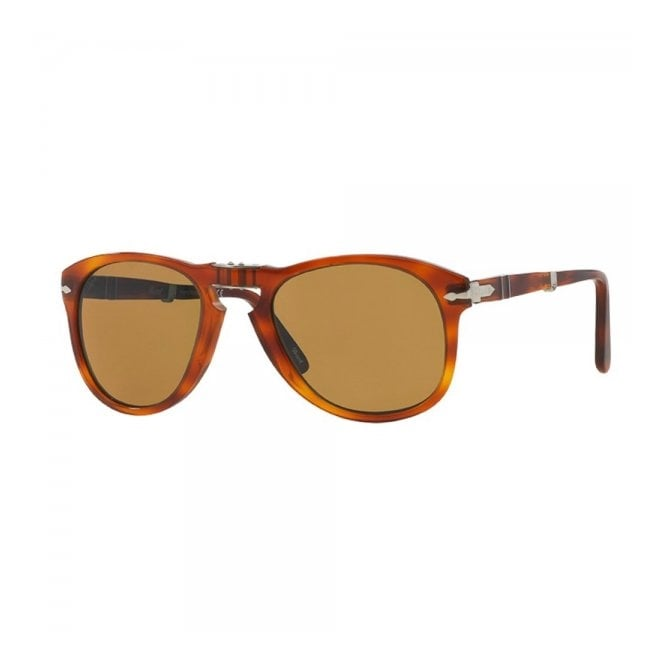 Persol PO0714  52/140 Foldable Brown Sunglasses