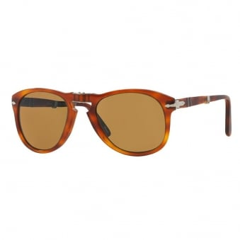 Persol 714 Foldable Brown Sunglasses 0PO0714 54/140