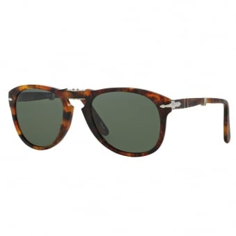 Persol 714 Polarized Caffe Light Tortoise Foldable Sunglasses PO0714 108/58