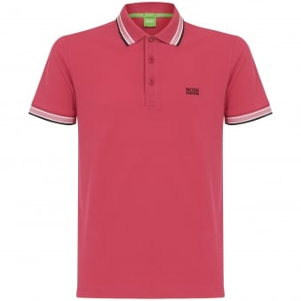 Hugo Boss Green Pink Polo 50302557