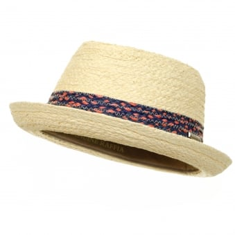 Player Straw Trilby Hat