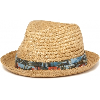 Wheat Player Vintage Straw Fedora Hat