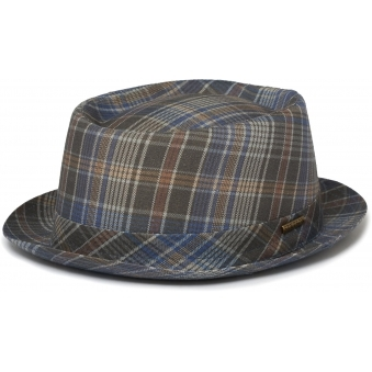 Checked Pork Pie Hat