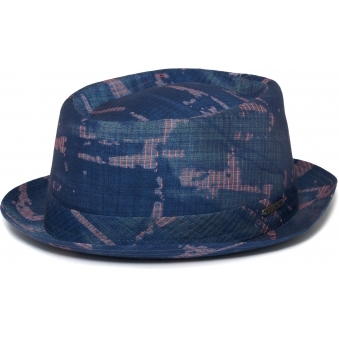 Pork Pie Hat- Blue