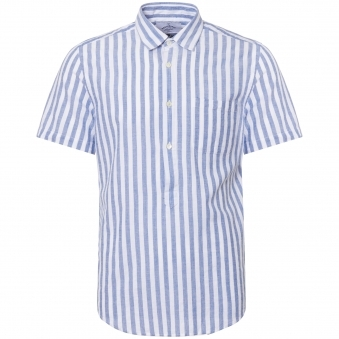 Blue Stripe Praia Shirt