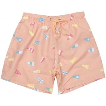 Boardies® Nautical Flag Pink Swim Shorts BS103M