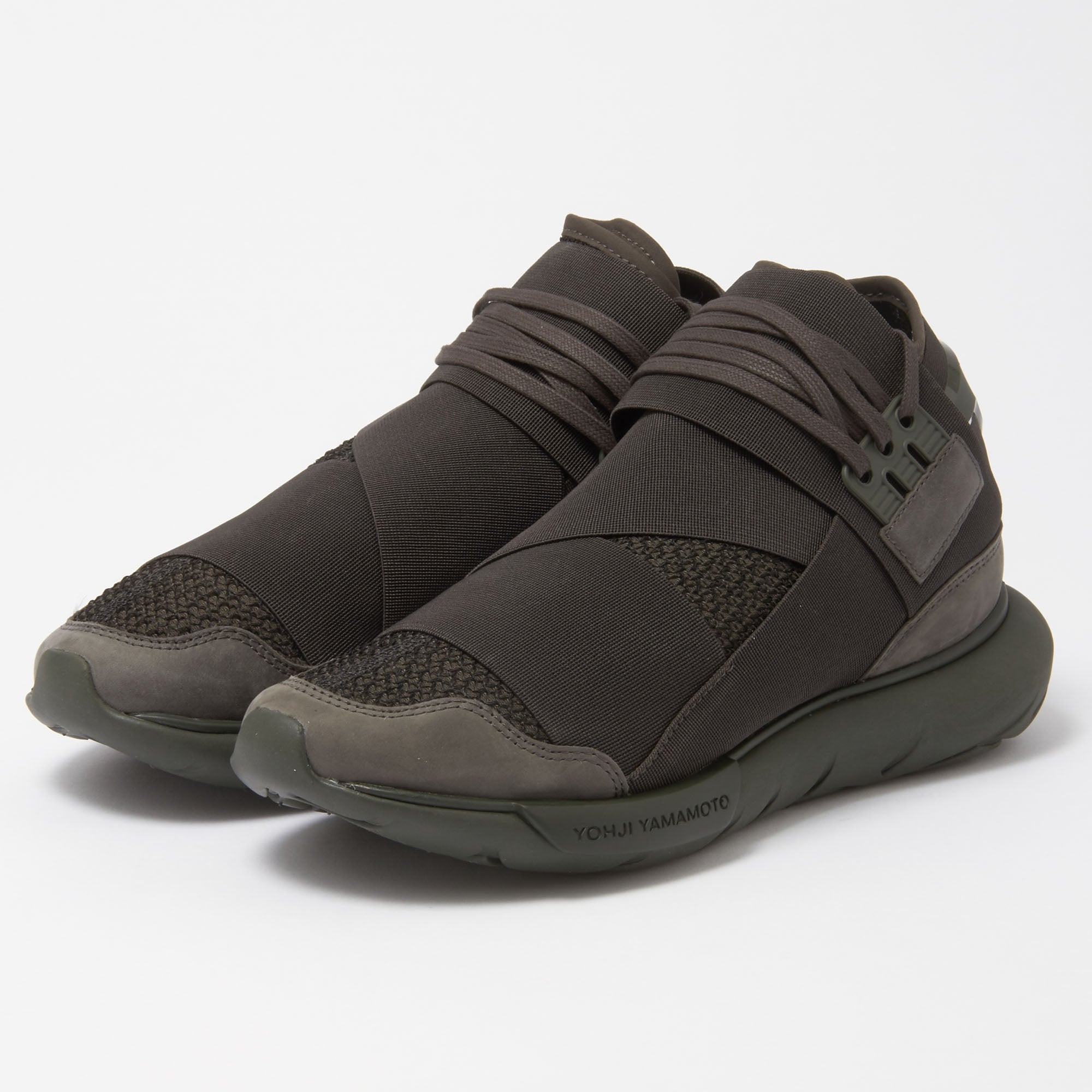 0cc4b403864 Adidas Y-3 Qasa High (Black Olive) Sneakers