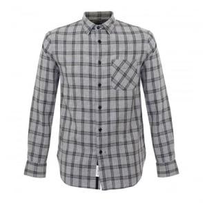 Rag and Bone Grey Check Beach Shirt M265A125X