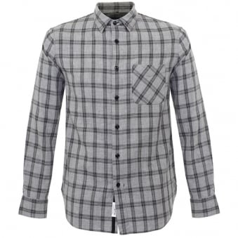 Rag and Bone Grey Check Beach Shirt M265A125X