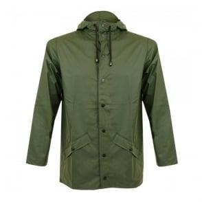 Rains Green Waterproof Jacket 1201 03