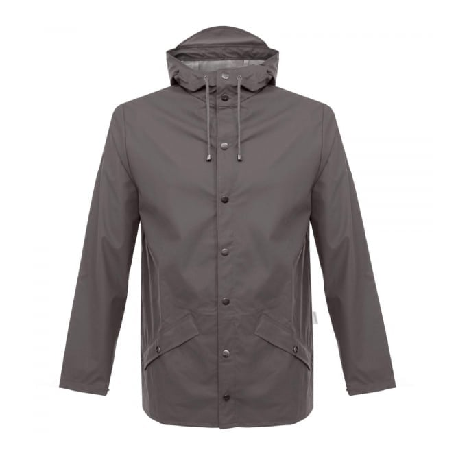 Rains Waterproof Smoke Grey Jacket 1201 48