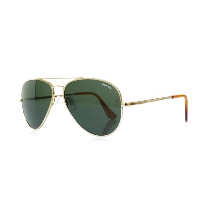 Randolph Sunglasses Randolph Concorde Gold Skull Sunglasses CR71414
