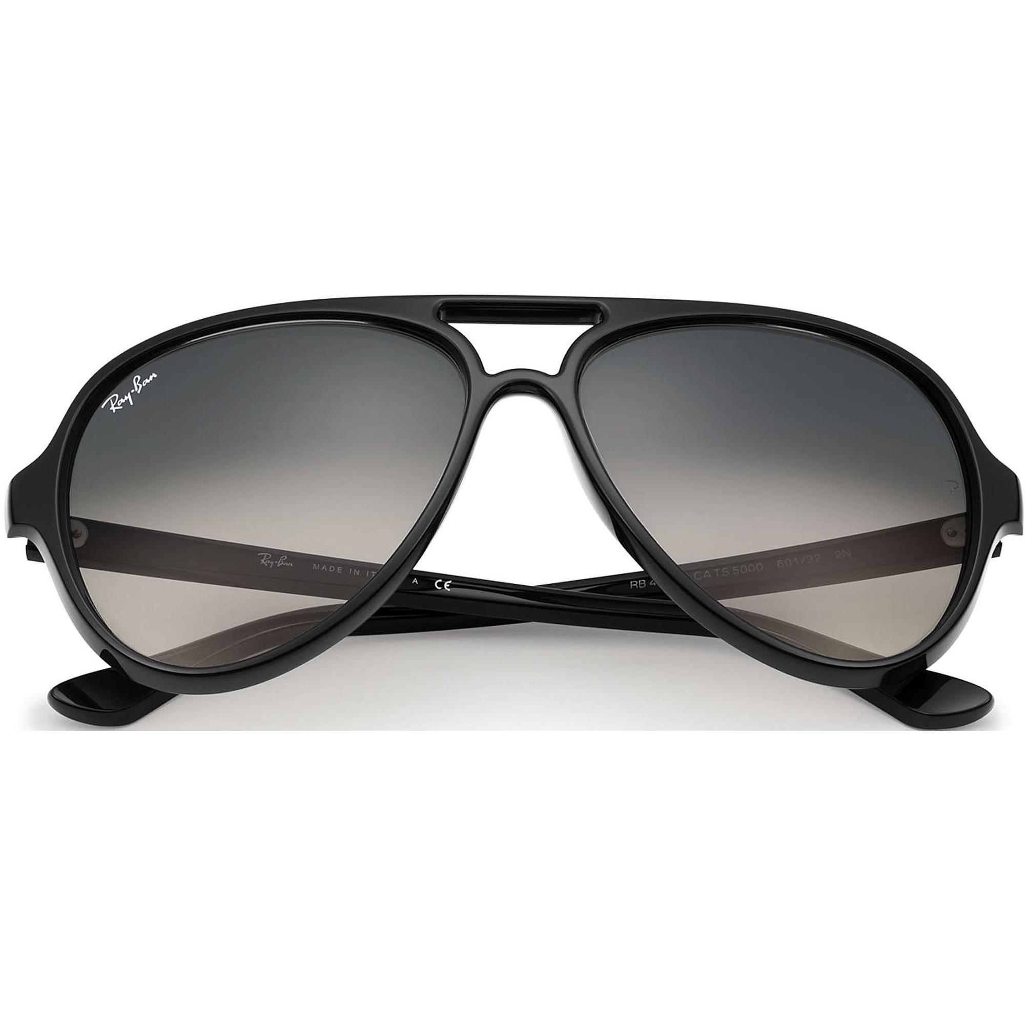 b8d8b221b0417 Ray Ban Sunglasses Cats 5000 Black Crystal Sunglasses RB4125 601 32