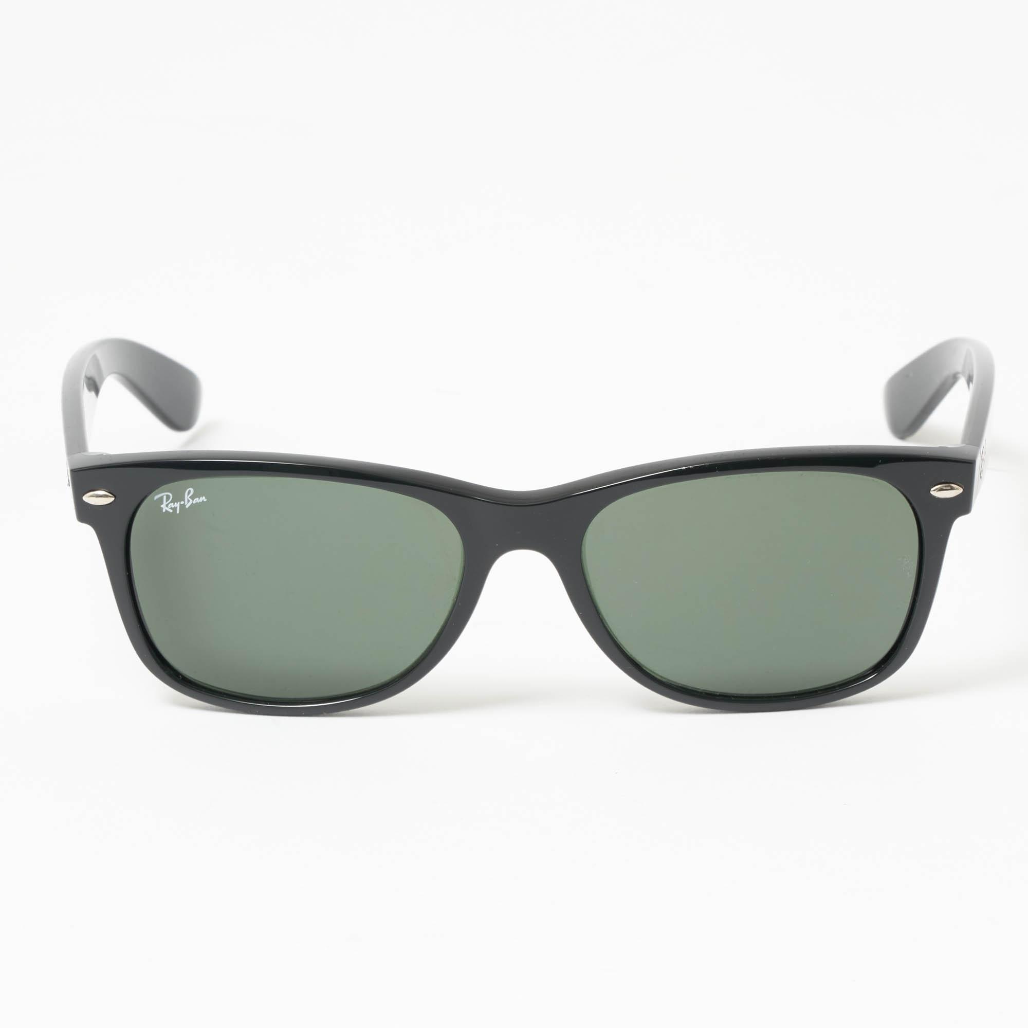 fcdb32db4 Black New Wayfarer Classic - Green Classic G-15 Lenses