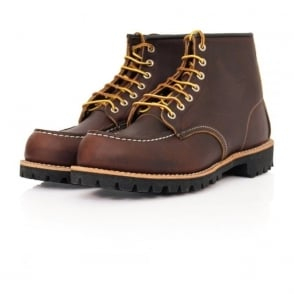 Red Wing Moc Lug Leather Brown Boot 8146