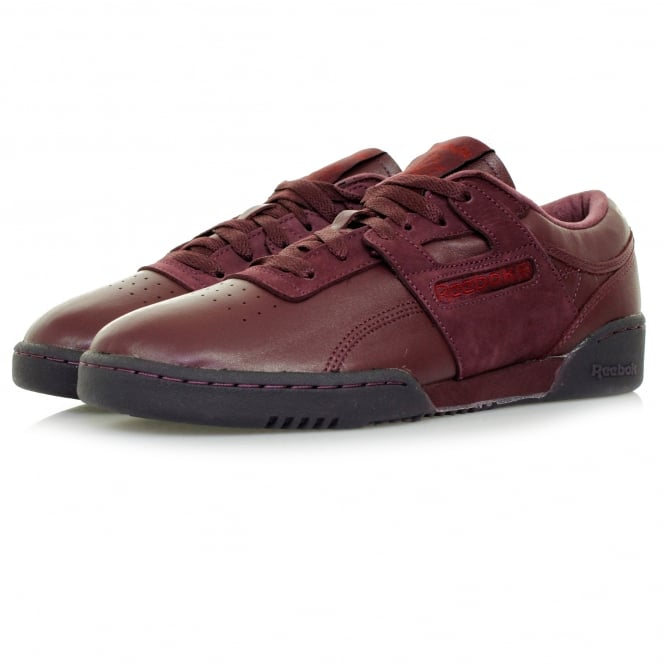 Reebok Workout Lo Burgundy Leather Shoe BD2531