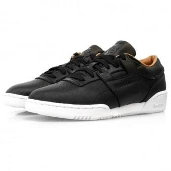Reebok Workout Lo Clean PN Black Leather Shoes V68814