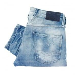 Replay Anbass Bright Blue Denim Jeans M914.000 24B 717