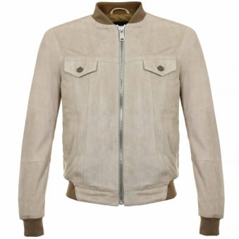 Replay Dove Grey Suede Leather Jacket M8837 00082782