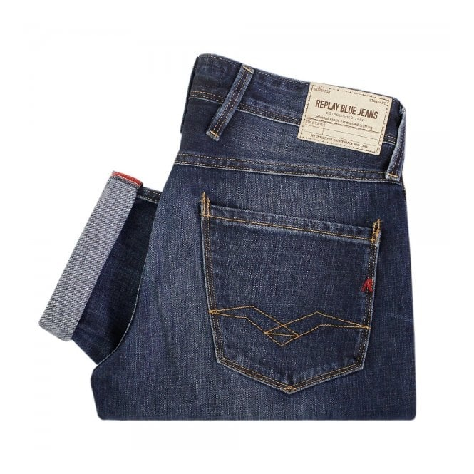 Replay Jeans Anbass Deep Blue Jeans M914-6063
