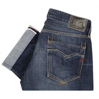 Replay Jeans Newbill Deep Blue Denim Jeans MA955000