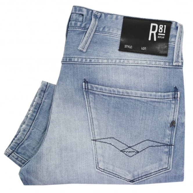a57de7fb Buy replay broken edge anbass jeans stonewash. Shop every store on ...