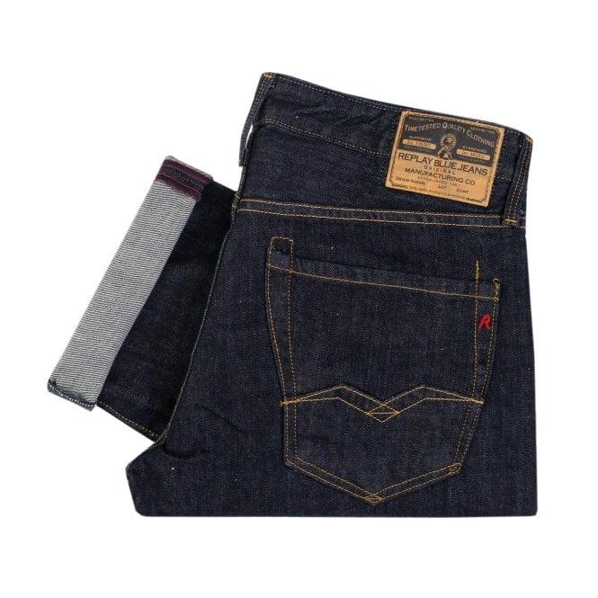 Replay Jeans Replay Waitom Indigo Denim Jeans 11807D007