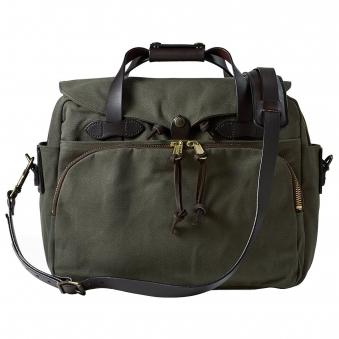 Otter Green Rugged Twill Padded Computer Bag