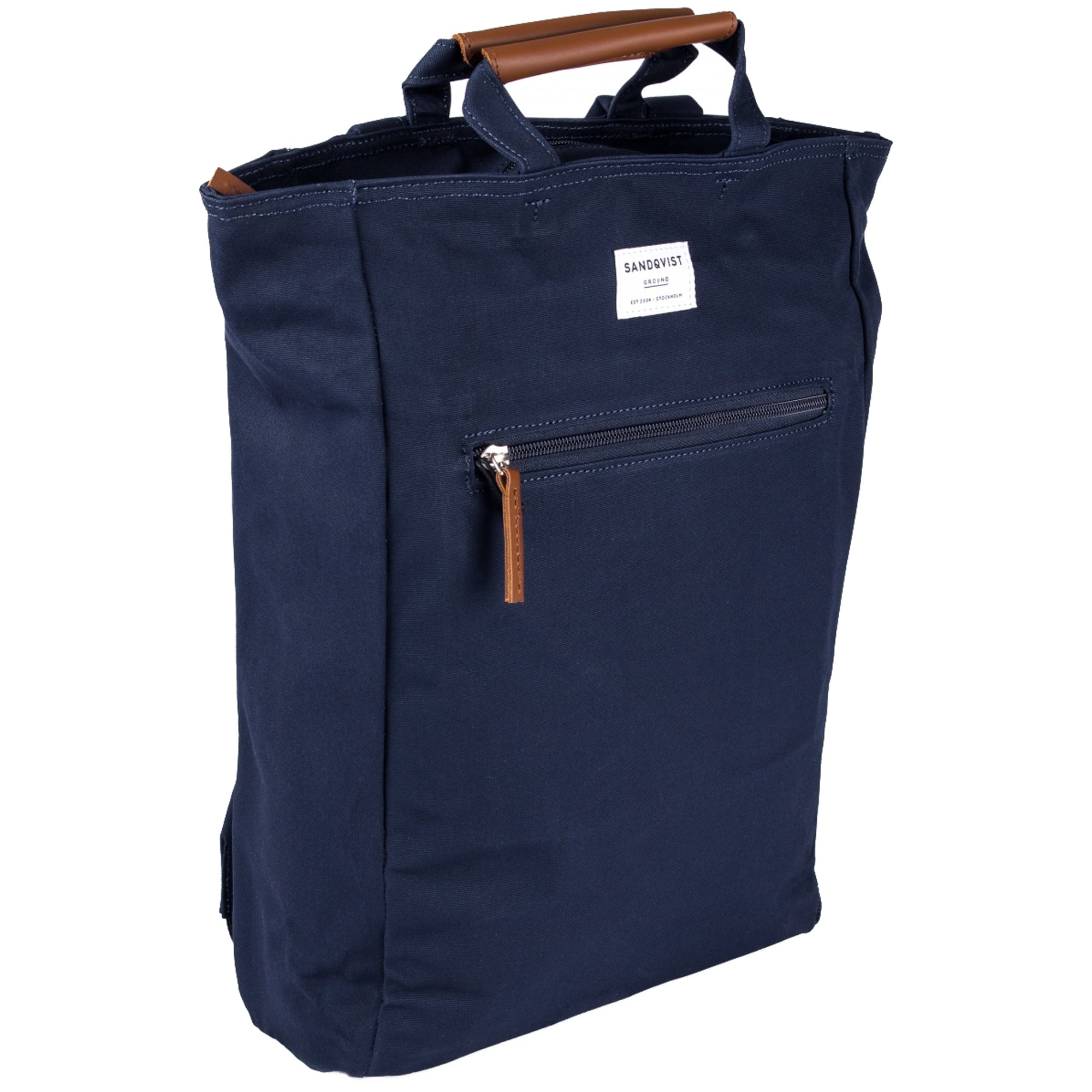 a18732de1 Sandqvist Ground Tony Leather Backpack (Blue) at Dandy Fellow